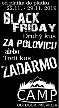Black Friday CAMP Outdoor Prievidza